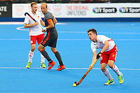 England's Phil Roper in action during the Hockey World League Semi-Final match between England and Netherlands at the Olympic Park, London, England on 24 June 2017. Photo by Steve McCarthy.