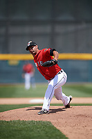 Erie SeaWolves relief pitcher Kurt Spomer (32) delivers a pitch during a game against the Reading Fightin Phils on May 18, 2017 at UPMC Park in Erie, Pennsylvania.  Reading defeated Erie 8-3.  (Mike Janes/Four Seam Images)