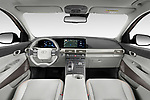 Stock photo of straight dashboard view of 2019 Hyundai Nexo - 5 Door SUV Dashboard