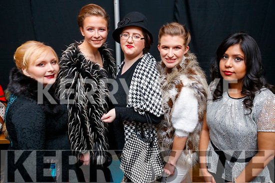 Tara Dwyer, Alexandra Schrader, Helen Edgar, Toria Horrobin and Kopal Tanbdon, models who took part in the St. Vincent De Paul Fashion Show, at Ballyroe Heights Hotel, Tralee, on Thursday, November 23rd last.