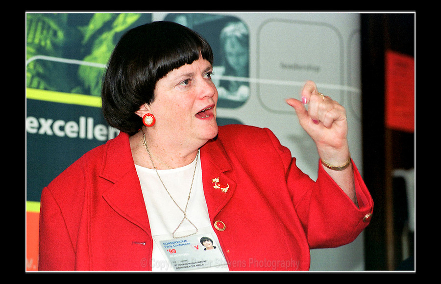Ann Widdecombe MP - Conservative Party Conference 1999 - Winter Gardens, Blackpool - 6th October 1999