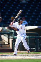 Surprise Saguaros Isiah Kiner-Falefa (20), of the Texas Rangers organization, during a game against the Glendale Desert Dogs on October 22, 2016 at Surprise Stadium in Surprise, Arizona.  Surprise defeated Glendale 10-8.  (Mike Janes/Four Seam Images)