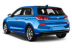 Car pictures of rear three quarter view of 2017 Hyundai i30 Luxury-Launch-Edition 5 Door Hatchback Angular Rear