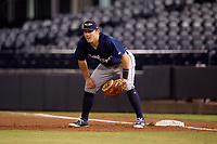 Lakeland Flying Tigers first baseman Dylan Burdeaux (34) during the second game of a doubleheader against the Tampa Tarpons on May 31, 2018 at George M. Steinbrenner Field in Tampa, Florida.  Lakeland defeated Tampa 3-2.  (Mike Janes/Four Seam Images)