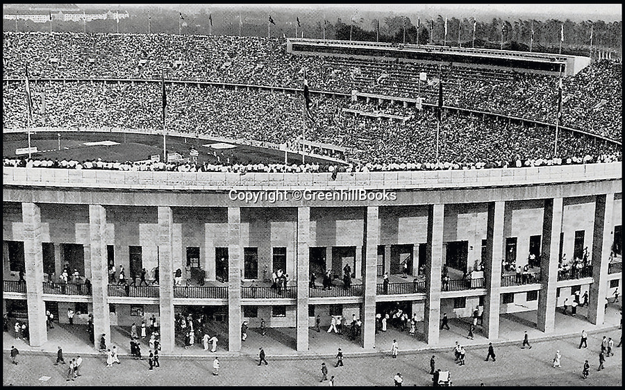 BNP.co.uk (01202 558833)<br /> Pic: GreenhillBooks/BNPS<br /> <br /> The Olympic Stadium, packed for some of the track and  eld events.<br /> <br /> The story of Hitler's Third Reich is told in a unique way in a new book which provides a fresh insight into the sinister regime through 100 objects.<br /> <br /> Included in the comprehensive list is Hitler's personal moustache brush which was taken from the bedroom of his Munich apartment after his death by his housekeeper Anni Winter. <br /> <br /> Historian Roger Moorhouse also reveals the bizarre tale of Nazi deputy leader Rudolf Hess' long johns which were seized by the British after his misjudged decision to fly to Britain in 1941 for 'peace' talks.<br /> <br /> They were confiscated by the British secret service for 'propaganda' purposes and have been locked away in the Imperial War Museum archives in London for the past 75 years.