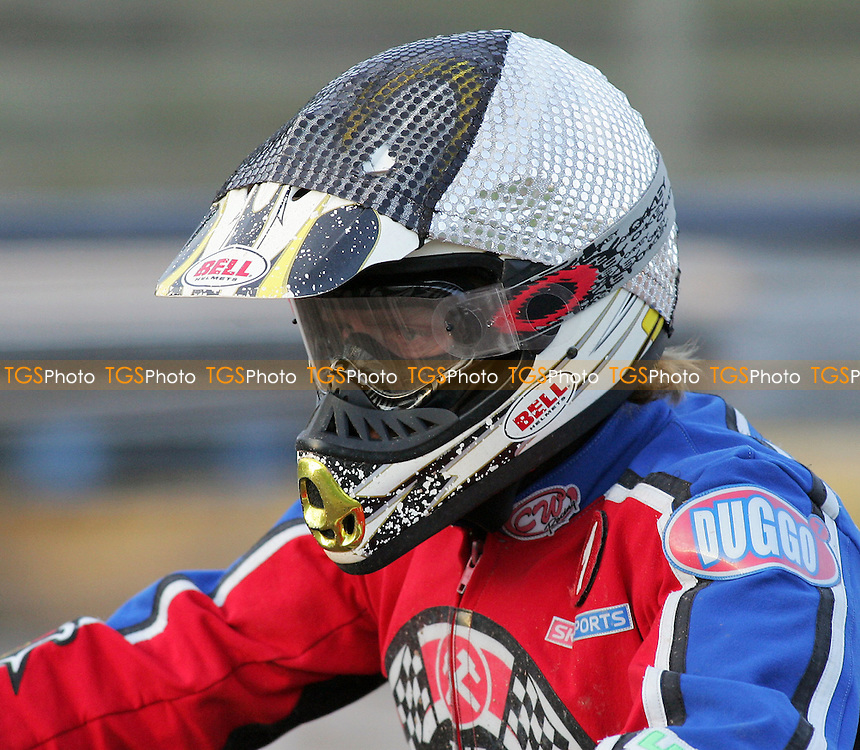 Heat 11 - Adam Shields of Lakeside in a silver and black tactical helmet - Ipswich Witches vs Lakeside Hammers - Elite League Speedway at Arena Essex - 21/06/07 - MANDATORY CREDIT: Gavin Ellis/TGSPHOTO - SELF-BILLING APPLIES WHERE APPROPRIATE. NO UNPAID USE -  Tel: 0845 0946026