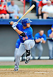 10 March 2012: New York Mets infielder Zach Lutz in action during a Spring Training game against the Washington Nationals at Space Coast Stadium in Viera, Florida. The Nationals defeated the Mets 8-2 in Grapefruit League play. Mandatory Credit: Ed Wolfstein Photo