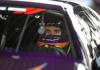 Apr. 29, 2011; Baytown, TX, USA: NHRA pro stock driver Vincent Nobile during qualifying for the Spring Nationals at Royal Purple Raceway. Mandatory Credit: Mark J. Rebilas-