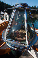 Compass on Orion at Jones Island State Park, San Juan Islands, Washington, US