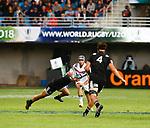 Clement Laporte, New Zealand 7 v 16 France, Stade D'Honneur du Parc des Sports et de L'Amitie, Narbonne France. World Rugby U20 Championship 2018. Photo Martin Seras Lima