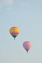 A pink and Yellow pairing of Hot Air Balloons.