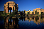 Palace of Fine Art, pillars, ornate carvings, Marina District, San Francisco, California USA