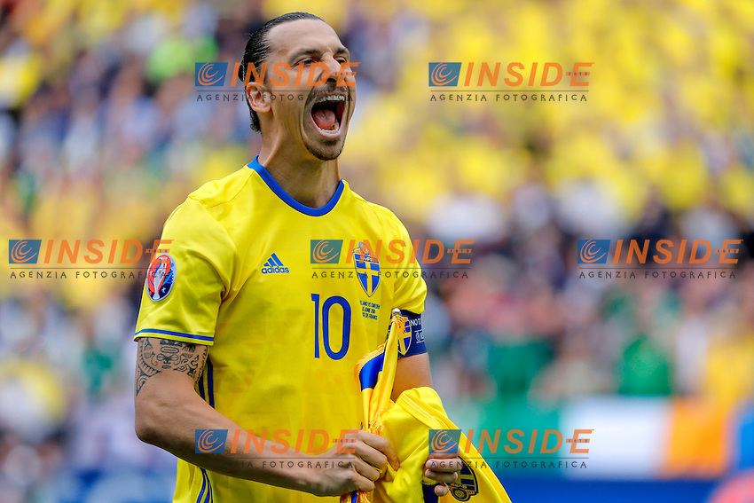 Zlatan Ibrahimovic (SWE)<br /> Paris 13-06-2016 Stade de France Football Euro2016 Ireland - Sweden / Irlanda - Svezia Group Stage Group E. Foto Stephane Allaman Panoramic / Insidefoto