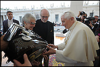 BNPS.co.uk (01202 558833)<br /> Pic: Bonhams/BNPS<br /> <br /> ***Please Use Full Byline***<br /> <br /> Pope Benedict signed the Harleys fuel tank.<br /> <br /> Holy Davidson - Twin Pope.<br /> <br /> A unique and historic motorbike is being sold by Bonhams next month -  A Harley Davidson Softail Classic that carries the signature of Pope Benedict XVI, and was later presented to his successor Pope Francis. <br /> <br /> The Papal abdication makes this stunning machine historically unique and despite its &pound;20,000 estimate bidding is likely to be fierce.<br /> <br /> This most holy of Harley's is unlikely to attract much interest from the famous American brands most loyal fans though - Hells Angels.<br /> <br /> Bonhams 5th Feb - Paris - Est &pound;20,000