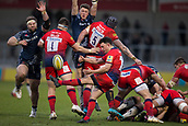 24th March 2018, AJ Bell Stadium, Salford, England; Aviva Premiership rugby, Sale Sharks versus Worcester Warriors; Jonny Arr of Worcester Warriors clears the ball