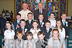 Kilcummin NS pupils who received their First Holy Communion in Our Lady of Lourdes Church, Kilcummin, on Saturday were front l-r: Miche?al Sweeney, Ailbhe Murphy, Evan Murphy, Carolette Doolan. Middle l-r: Roisin Breen, John Friel, Emer Fahy, Nathan McCarthy, Bebhinn Brosnan. Back l-r: Con Fleming, Darren Lehane, Philip O'Leary, Jodie Hannafin and Jack McClain with Fr Joe Begley and teacher Pat Breen.