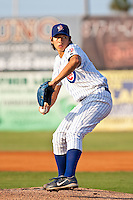 Dae-Eun Rhee (44) of the Daytona Cubs during a game vs. the Charlotte Stone Crabs June 1 2010 at Jackie Robinson Ballpark in Daytona Beach, Florida. Charlotte won the game against Charlotte by the score of 4-1.  Photo By Scott Jontes/Four Seam Images