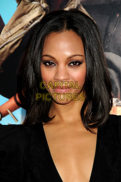 "ZOE SALDANA.""The Losers"" Los Angeles Premiere held at Grauman's Chinese Theatre, Hollywood, California, USA, .20th April 2010..portrait headshot black make-up .CAP/ADM/BP.©Byron Purvis/AdMedia/Capital Pictures."
