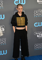 Asia Kate Dillon at the 23rd Annual Critics' Choice Awards at Barker Hangar, Santa Monica, USA 11 Jan. 2018<br /> Picture: Paul Smith/Featureflash/SilverHub 0208 004 5359 sales@silverhubmedia.com