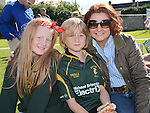 Emily, Freddie and Lisa Morgan pictured at the Gathering at Boyne RFC. Photo:Colin Bell/pressphotos.ie