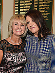 Lady Captain Sandra Kierans pictured with Tracy Pentony at the Captains dinner. Photo:Colin Bell/pressphotos.ie