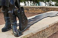 Close up photo of the Stevie Ray Vaughan Statue and famous strat electric guitar
