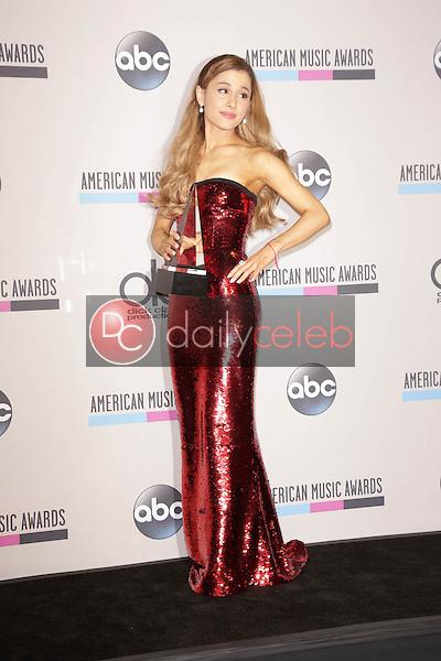 Ariana Grande<br /> at The 2013 American Music Awards - Press Room , Nokia Theater, Los Angeles, CA 11-24-13<br /> David Edwards/Dailyceleb.com 818-249-4998