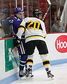 Frankie Posillico (Curry - 13), Ben Iwanowski (WIT - 20) - The Wentworth Institute of Technology Leopards defeated the visiting Curry College Colonels 1-0 on Saturday, November 23, 2013, at Walter Brown Arena in Boston, Massachusetts.
