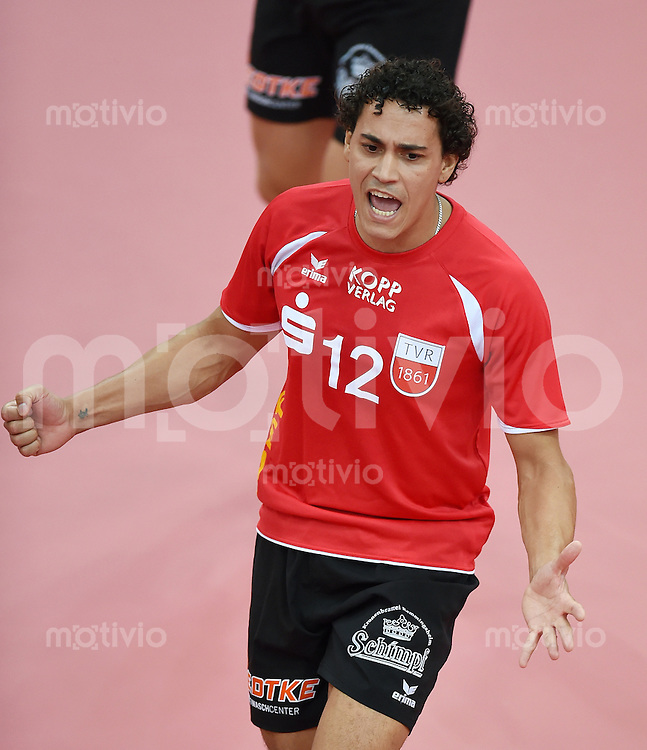 Volleyball 1. Bundesliga  Saison  2014/2015 Testspiel 10.09.2014 in Tuebingen TV Rottenburg  - SV Fellbach Diego Ferreira Guardiano (TV Rottenburg)