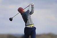 Marc Nolan (Dun Laoghaire) during the first round of matchplay at the 2018 West of Ireland, in Co Sligo Golf Club, Rosses Point, Sligo, Co Sligo, Ireland. 01/04/2018.<br /> Picture: Golffile | Fran Caffrey<br /> <br /> <br /> All photo usage must carry mandatory copyright credit (&copy; Golffile | Fran Caffrey)