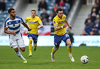 Leeds United's Jack Harrison competing with Queens Park Rangers' Darnell Furlong<br /> <br /> Photographer Andrew Kearns/CameraSport<br /> <br /> The Emirates FA Cup Third Round - Queens Park Rangers v Leeds United - Sunday 6th January 2019 - Loftus Road - London<br />  <br /> World Copyright &copy; 2019 CameraSport. All rights reserved. 43 Linden Ave. Countesthorpe. Leicester. England. LE8 5PG - Tel: +44 (0) 116 277 4147 - admin@camerasport.com - www.camerasport.com