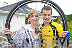 WHEELS OF FIRE: 2008 Kerry Rose Katie Nolan launching the Castleisland Day Care Centre Charity Cycle organised by Currow  Cycling Club..L/r. Katie Nolan and Shane O'Neill.   Copyright Kerry's Eye 2008