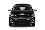 Car photography straight front view of a 2016 Peugeot 108 Allure 5 Door Micro Car Front View