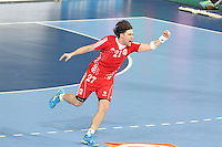 25.01.2013 Barcelona, Spain. IHF men's world championship, 3º/4º place. Picture show Ivan Cupic in action during game between Slovenia vs Croatia at Palau St. Jordi