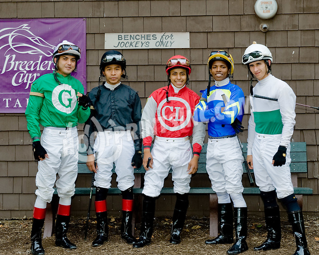 jockeys at Delaware Park on 7/5/12