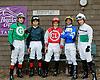 jockeys at Delaware Park on 7/5/12