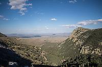 Cielo azul  sobre el valle y sierra en el municipio de Casas Grandes Chihuahua Mexico. Blue sky over the valley and sierra in the municipality of Casas Grandes Chihuahua Mexico.<br /> (© Foto: LuisGutierrez/NORTEPHOTO.COM.)
