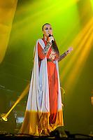 Spanish singer Monica Naranjo performs at Palacio de los Deportes in Madrid, Spain.November 14, 2014. (ALTERPHOTOS/Victor Blanco) /NortePhoto nortephoto@gmail.com