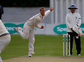 June 11th 2017, Trafalgar Road Ground, Southport, England; Specsavers County Championship Division One; Day Three; Lancashire versus Middlesex; Liam Livingstone of Lancashire bowls during the final session