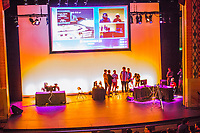 In the main room, students compete to win the eSports championship hosted by Emerson College.