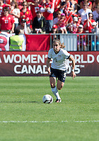 02 June 2013: U.S Women's National Soccer Team midfielder Heather O'Reilly #9 in action during an International Friendly soccer match between the U.S. Women's National Soccer Team and the Canadian Women's National Soccer Team at BMO Field in Toronto, Ontario.<br /> The U.S. Women's National Team Won 3-0.