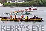 Action from the start of the U16 Girls race at the Sive Regatta in Cahersiveen on Sunday.
