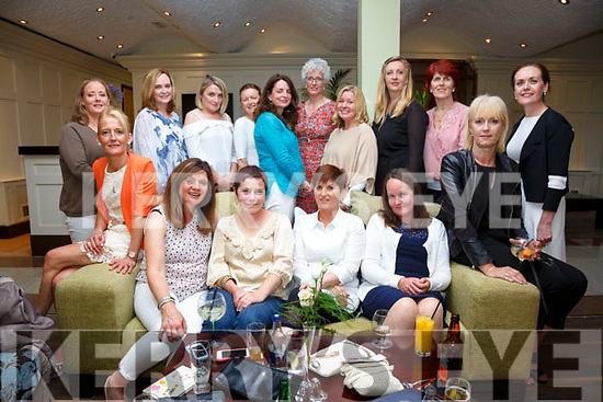 The St John Bosco's Class of 1986 held their class reunion in the Skellig Star Hotel on Monday evening last pictured here front l-r; Sally O'Sullivan, Rosanne Murphy, Alice Dennehy, Patricia O'Neill, Mary Sheehan, Caitriona O'Connor, back l-r; Mary Quinlan, Noreen O'Sullivan, Ann Daly, Denise Cronin, Karen O'Leary, Ann O'Connell, Noreen O'Brien, Maura Keating, Sheila O'Shea & Anne Shine.