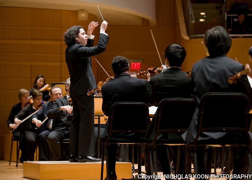 Gustavo Dudamel 3-5-11 The Renee and Henry Segerstrom Concert Hall.