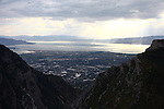 1309-22 2656<br /> <br /> 1309-22 BYU Campus Aerials<br /> <br /> Brigham Young University Campus, Provo, <br /> <br /> Provo Canyon, Sunset, Storm Clouds, Provo Valley<br /> <br /> September 6, 2013<br /> <br /> Photo by Jaren Wilkey/BYU<br /> <br /> &copy; BYU PHOTO 2013<br /> All Rights Reserved<br /> photo@byu.edu  (801)422-7322