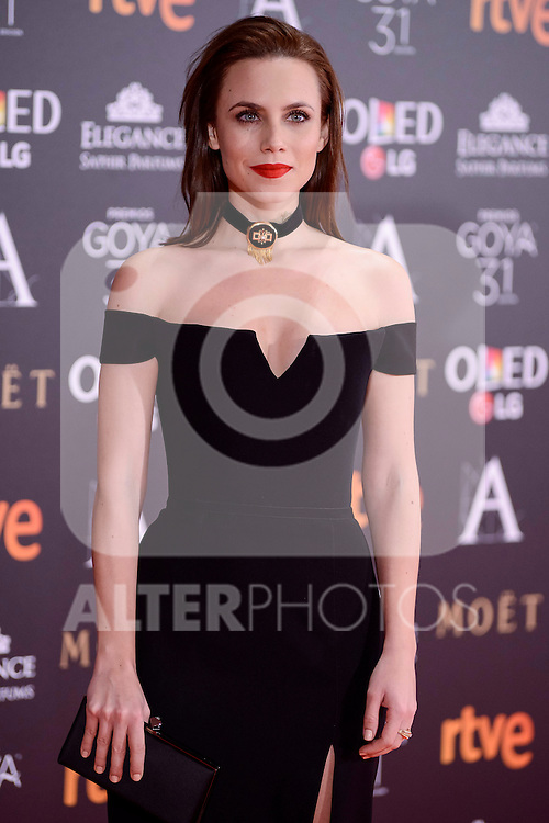 Aura Garrido attends to the Red Carpet of the Goya Awards 2017 at Madrid Marriott Auditorium Hotel in Madrid, Spain. February 04, 2017. (ALTERPHOTOS/BorjaB.Hojas)