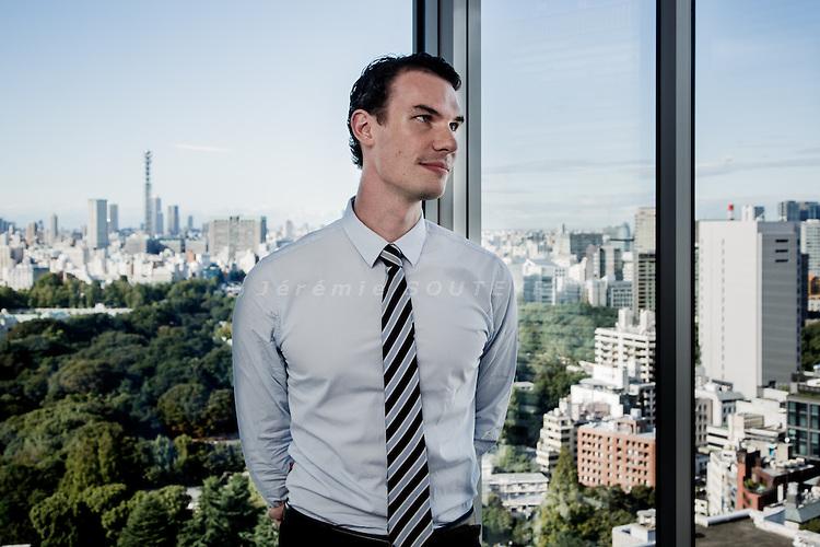 Tokyo, october 6 2014 - Portrait of Johannes Fehrenbach at ThyssenKrupp Japan.