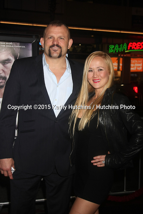 "LOS ANGELES - JAN 20:  Chuck Liddell, Heidi Liddell at the ""Manny"" Los Angeles Premiere at a TCL Chinese Theater on January 20, 2015 in Los Angeles, CA"