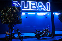 Dubai strip club. Night bike ride with Kurt, Mike and Adrian.  The east side of Mexico City.  Mexico DF