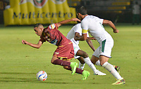 IBAGUÉ- COLOMBIA , 27-03-2018:Acción de juego entre los equipos Deportes Tolima y el Deportivo Cali  durante partido por la fecha 11 de la Liga Águila I 2018 jugado en el estadio Manuel Murillo Toro de la ciudad de Ibagué. / Action game between Deportes Tolima and Deportivo Cali during match for the date 11 of the Aguila League I 2018 at Manuel Murillo Toro  stadium in Ibague city. Photo: VizzorImage  /Juan Carlos Escobar / Contribuidor